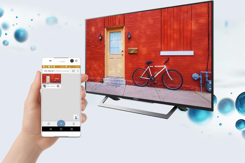 Internet Tivi Sony 43 inch KDL-43W750D - Chia sẻ hình từ điện thoại lên tivi