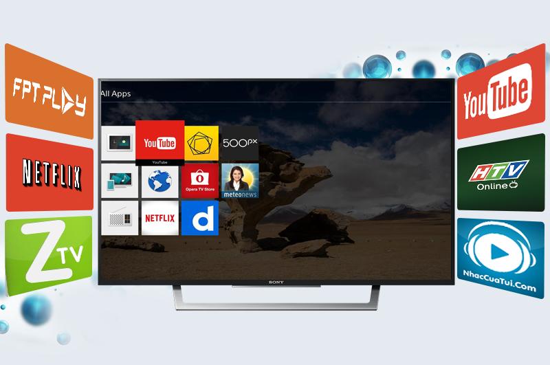 Internet Tivi Sony 43 inch KDL-43W750D - Ứng dụng giải trí