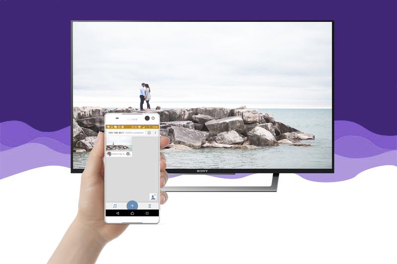 Internet Tivi Sony 49 inch KDL-49W750D - Chuyển hình lên tivi