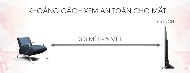 Android Tivi Cong Sony 65 inch KD-65S8500D - Khoảng cách xem TV