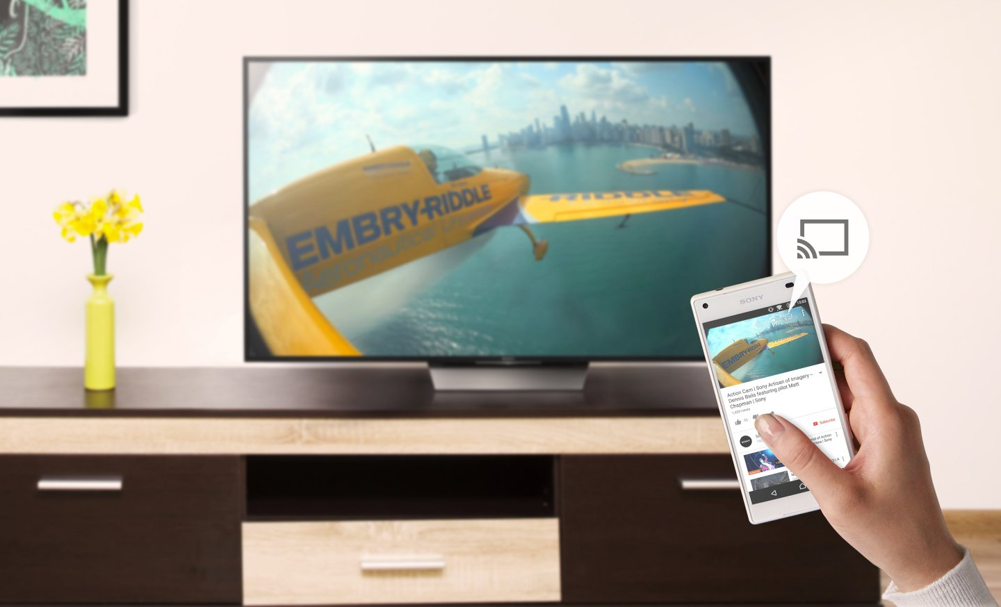 Android Tivi Cong Sony 65 inch KD-65S8500D - Google Cast