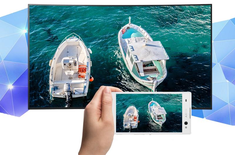 Android Tivi Cong Sony 65 inch KD-65S8500D - Chiếu màn hình điện thoại lên tivi