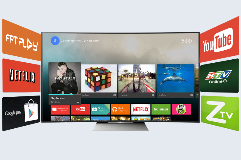 Android Tivi Cong Sony 65 inch KD-65S8500D - Android tivi nhiều ứng dụng hấp dẫn