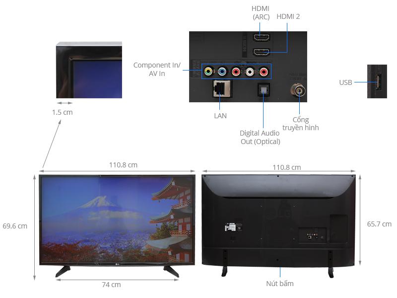 Thông số kỹ thuật Smart Tivi LG 49 inch 49LH590T