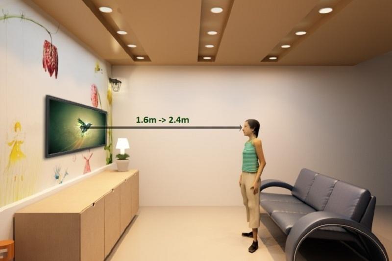 Smart Tivi LG 32 inch 32LH591D - Khoảng cách hợp lý xem tivi