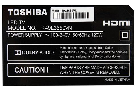 Tivi Toshiba 49 inch 49L3650