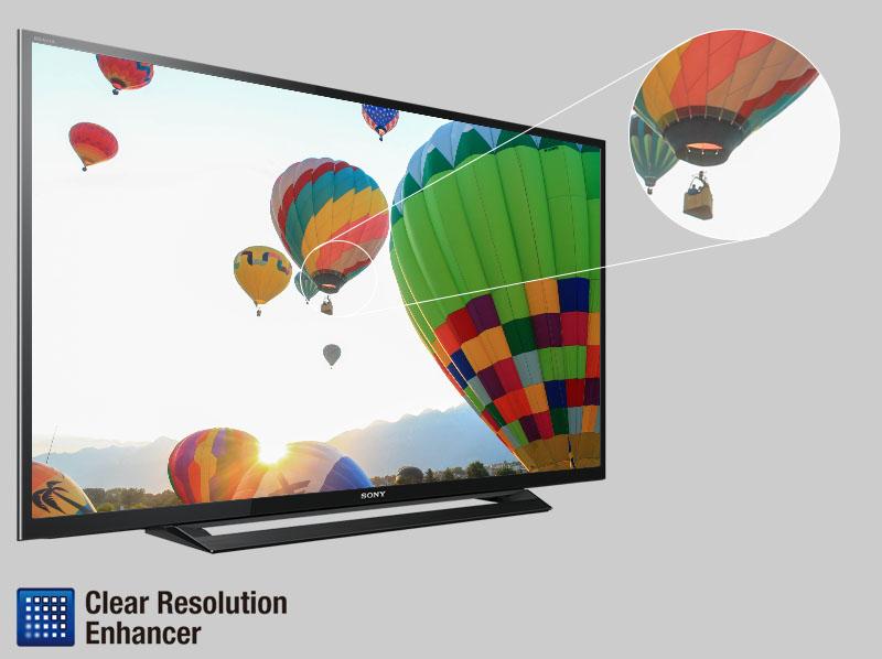 Tivi Sony 40 inch KDL-40R350D - Công nghệ giảm nhiễu Clear Resolution Enhancer