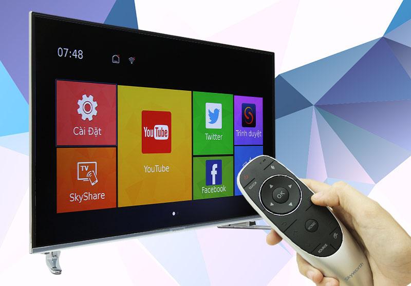 Smart Tivi Skyworth GLED 55 inch 55K920S - Giải trí trực tuyến trên tivi