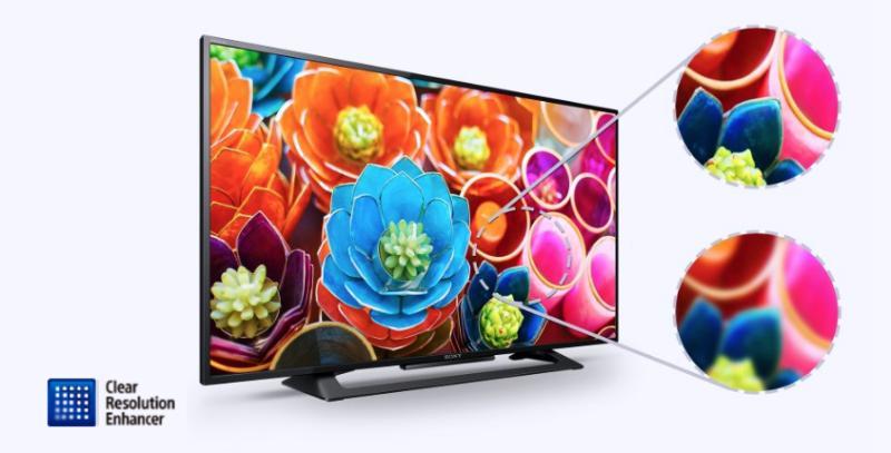 TIVI LED SONY KDL-40R350D 40 INCH thiết kế mỏng gọn nhẹ dễ treo tường và chất lượng hình ảnh HD trên nền âm thanh sôi động và phong phú