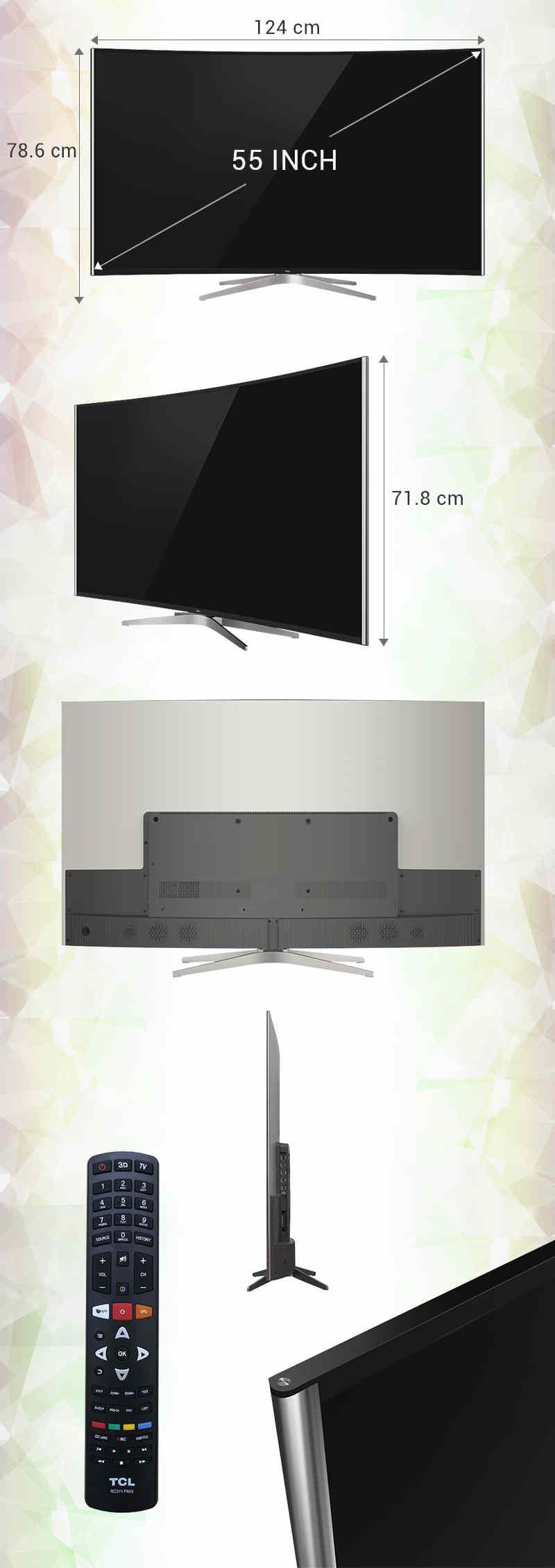 Smart Tivi Cong TCL 55 inch L55C1-UC