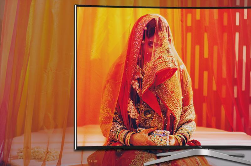 Smart Tivi Cong TCL 55 inch L55C1-UC-Hình ảnh tự nhiên, chân thực