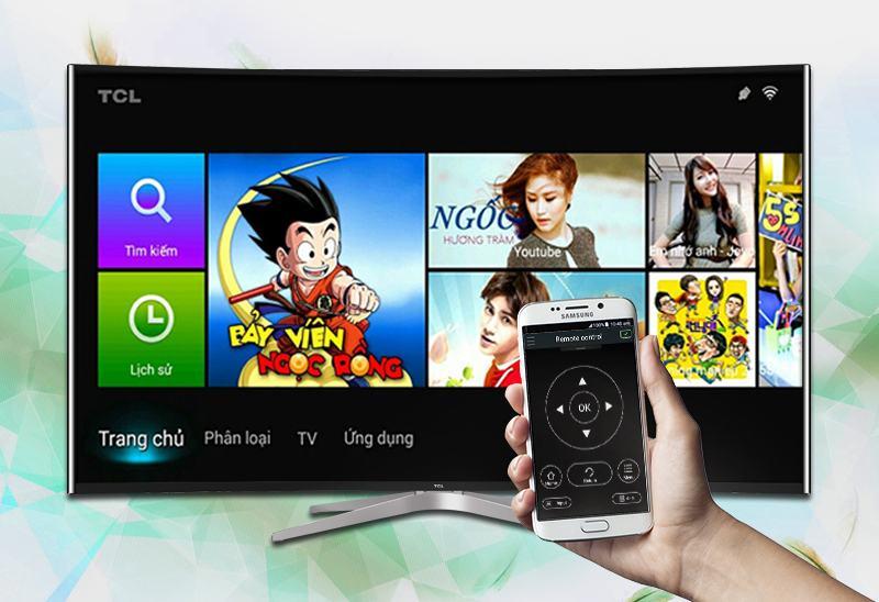 Smart Tivi Cong TCL 55 inch L55C1-UC-Điều khiển tivi bằng điện thoại
