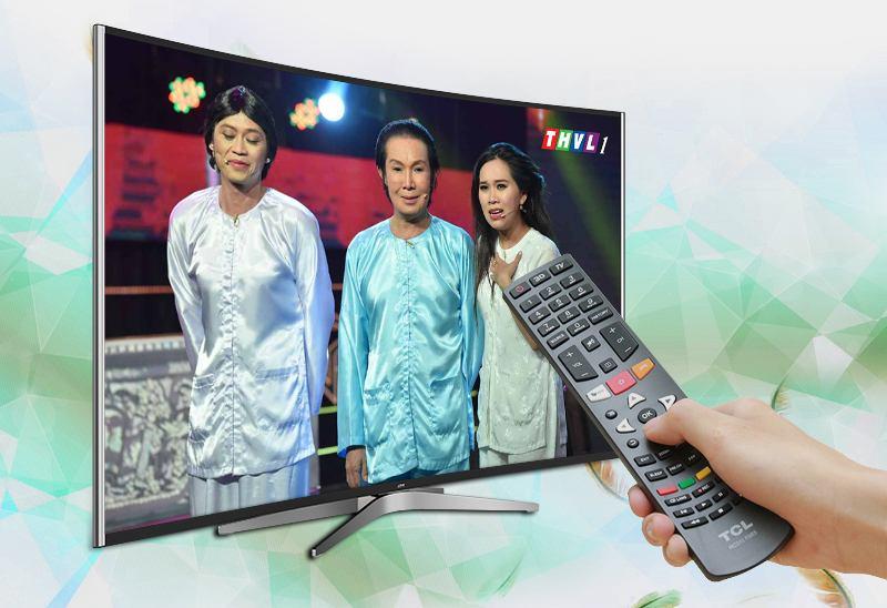 Smart Tivi Cong TCL 55 inch L55C1-UC-Truyền hình kỹ thuật số miễn phí