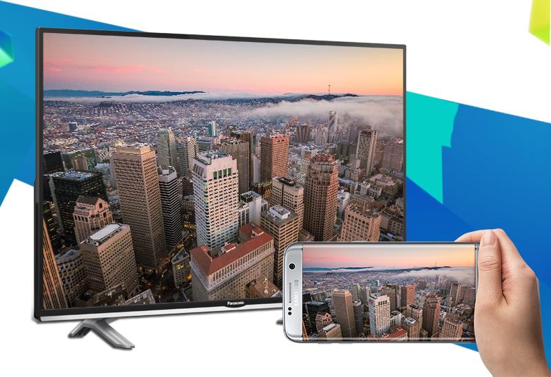 Smart Tivi Panasonic 40 inch TH-40DS500V - Chiếu màn hình điện thoại lên TV