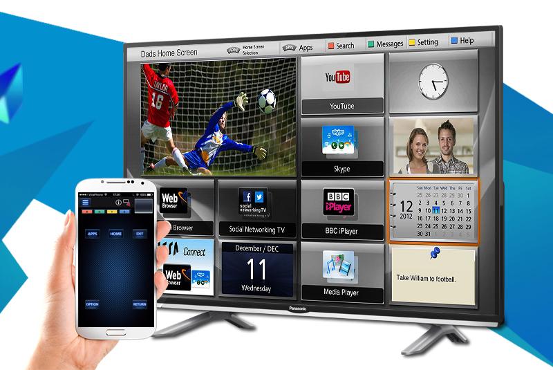 Smart Tivi Panasonic 40 inch TH-40DS500V - Điều khiển tivi Panasonic bằng điện thoại