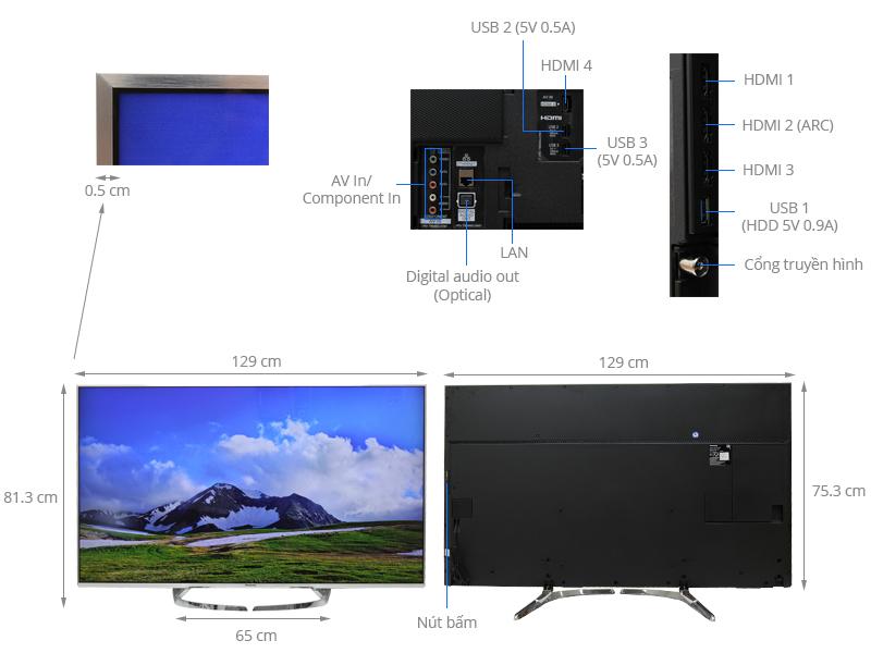 Thông số kỹ thuật Smart Tivi Panasonic 58 inch TH-58DX700V