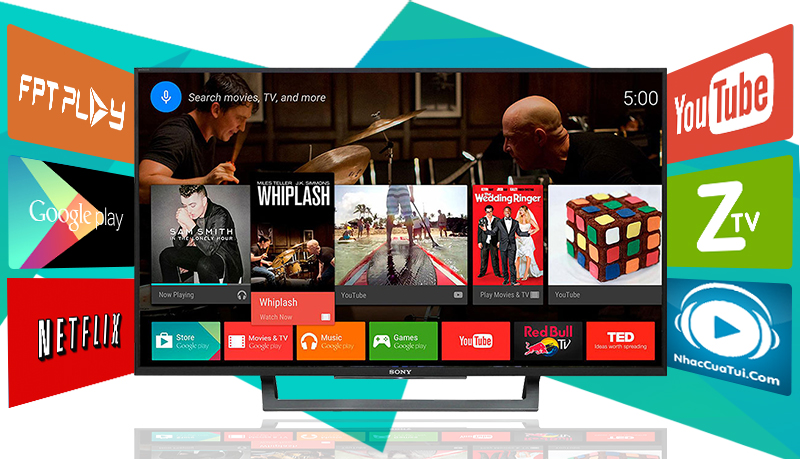 Android Tivi Sony 43 inch KD-43X8000D - Ứng dụng