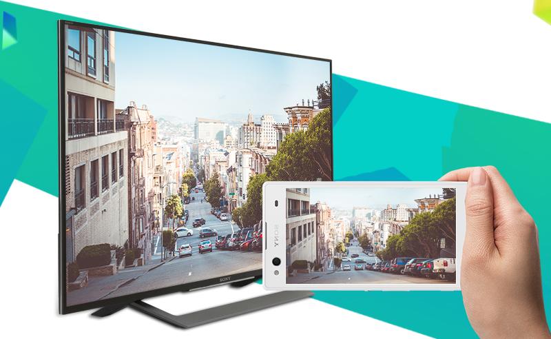 Android Tivi Sony 43 inch KD-43X8000D - Chiếu màn hình điện thoại lên tivi