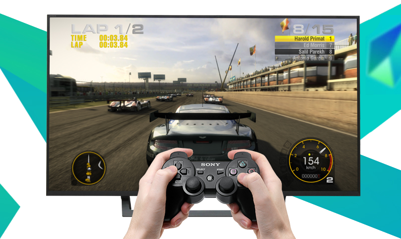 Android Tivi Sony 43 inch KD-43X8000D - Kết nối tay cầm chơi game