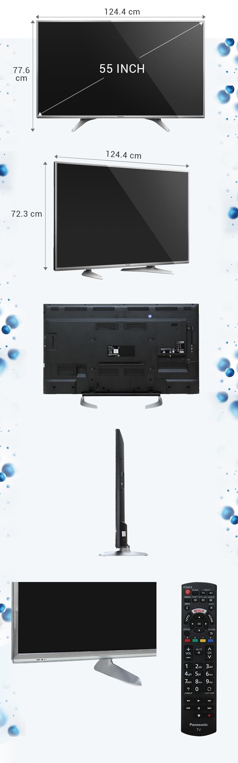 Smart Tivi Panasonic 55 inch TH-55DX650V - Kích thước tivi
