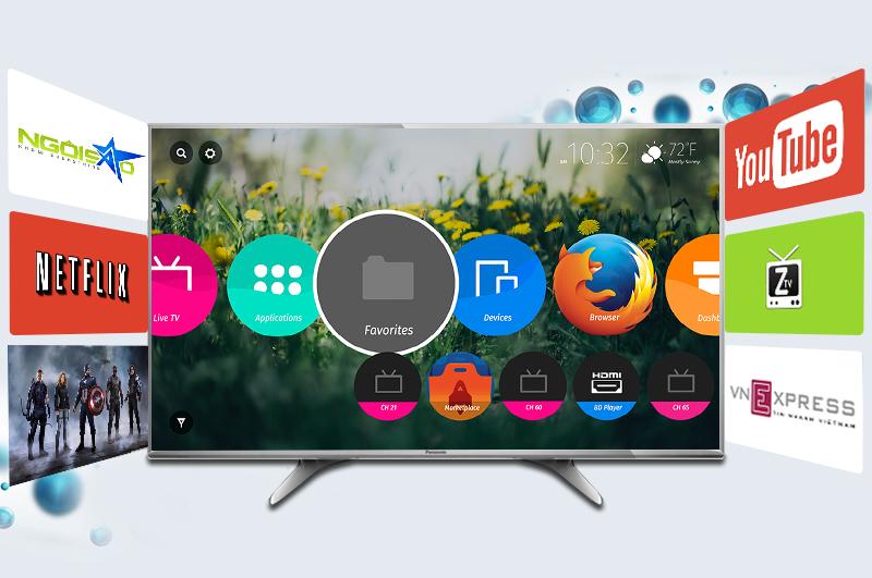 Smart Tivi Panasonic 55 inch TH-55DX650V - Ứng dụng giải trí