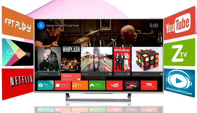 Android Tivi Sony 43 inch KD-43X8000D/S - Tính năng giải trí