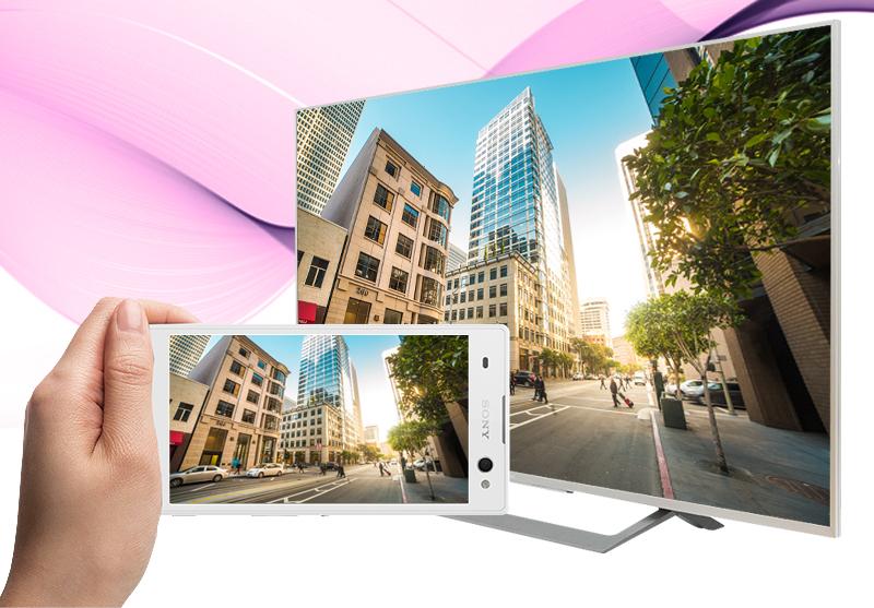 Android Tivi Sony 43 inch KD-43X8000D/S - Chiếu màn hình điện thoại lên tivi
