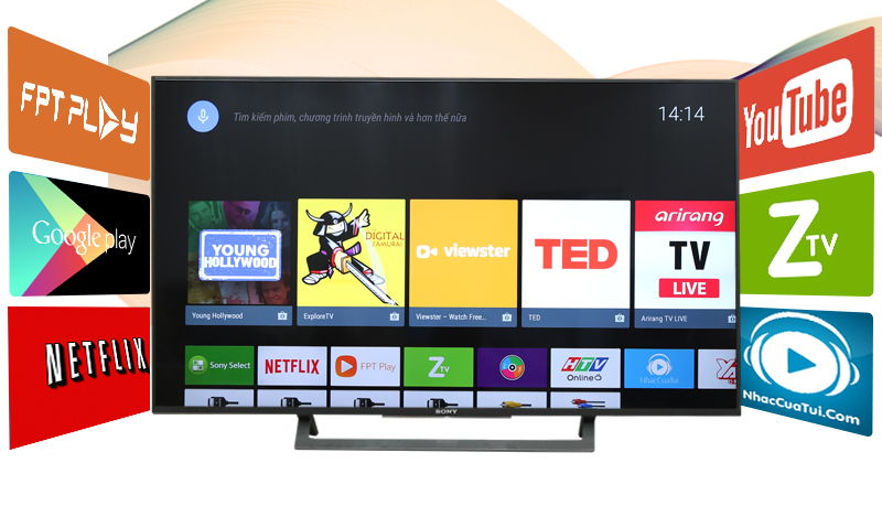 Android Tivi Sony 49 inch KD-49X8000D-Android tivi sony