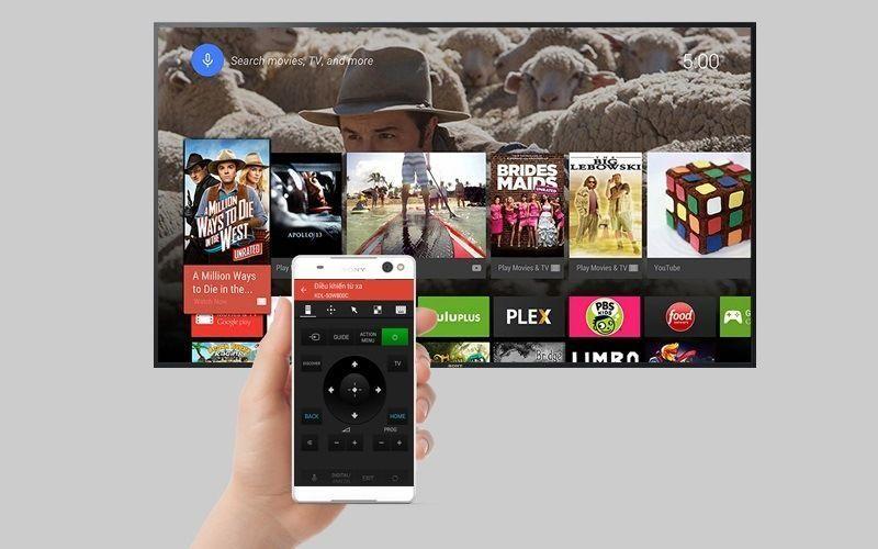 Android Tivi Sony 49 inch KD-49X8000D-điều khiển bằng điện thoại