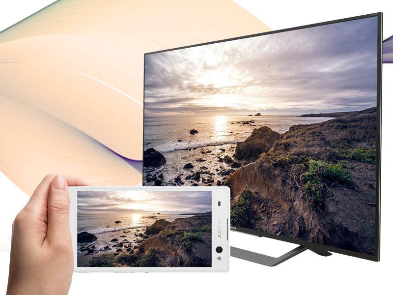 Android Tivi Sony 49 inch KD-49X8000D-Chiếu màn hình tivi