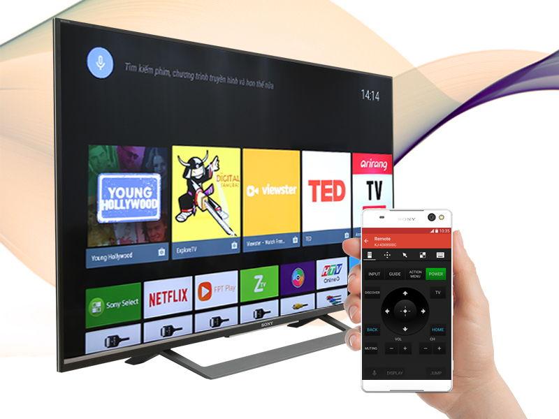 Android Tivi Sony 49 inch KD-49X8000D-Điều khiển tivi bằng điện thoại