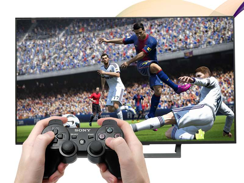 Android Tivi Sony 49 inch KD-49X8000D-Tay cầm chơi game