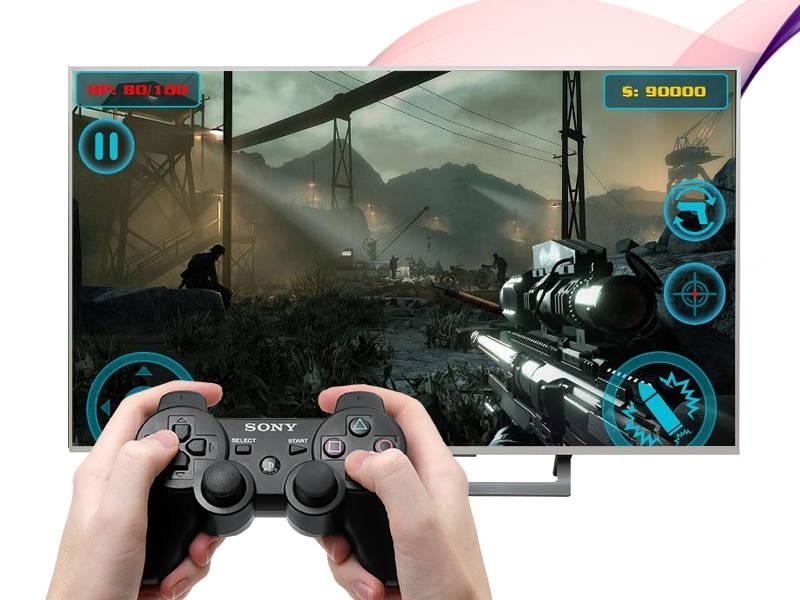 Android Tivi Sony 49 inch KD-49X8000D/S-Chơi game trên tivi