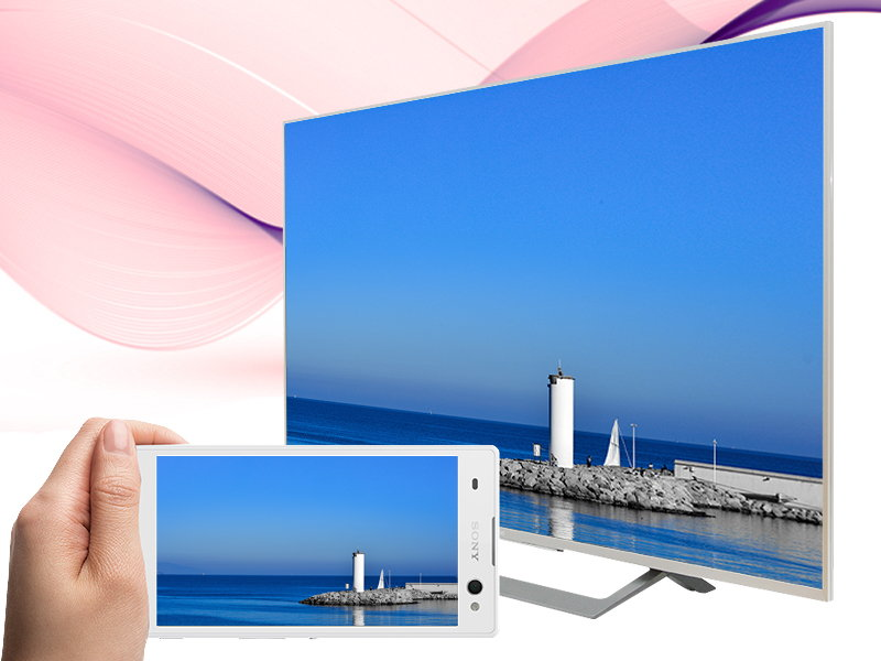 Android Tivi Sony 49 inch KD-49X8000D/S-Chiếu màn hình điện thoại