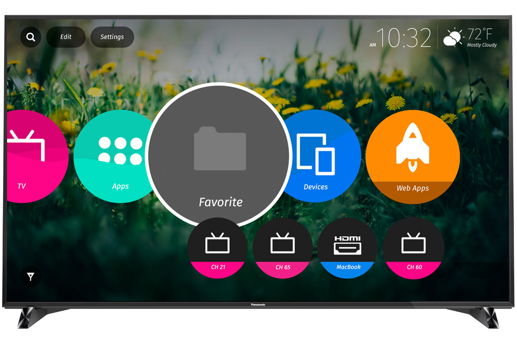 Smart Tivi 3D Panasonic TH-65DX900V - Giao diện mới mẻ