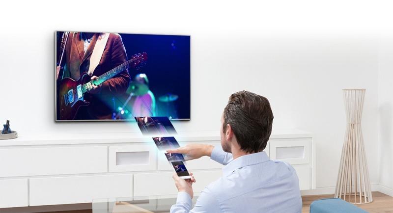 Android Tivi Sony 49 inch KD-49X7000D - Phản chiếu hình ảnh dễ dàng