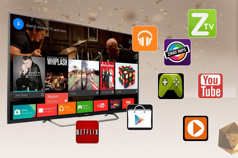 Android Tivi Sony 49 inch KD-49X7000D - Android tivi nhiều ứng dụng giải trí đặc sắc