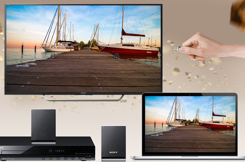 Android Tivi Sony 49 inch KD-49X7000D - Kết nối