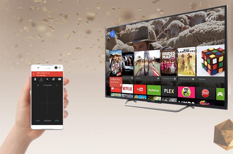 Android Tivi Sony 49 inch KD-49X7000D - Điều khiển tivi bằng điện thoại