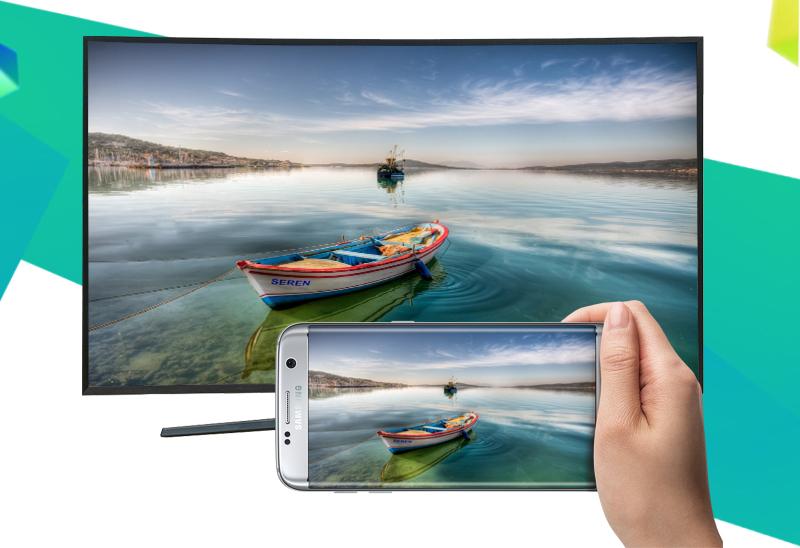 Smart Tivi Cong Samsung 78 inch UA78KU6500 - Chiếu màn hình điện thoại lên tivi