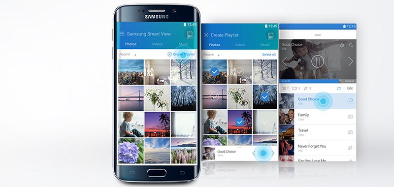 Smart Tivi Cong Samsung 78 inch UA78KU6500 - Samsung Smart View