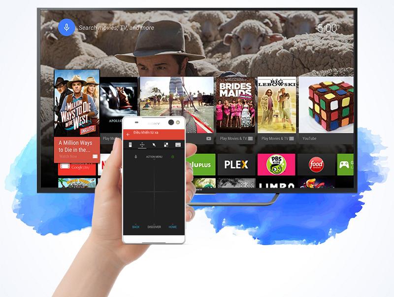 Android Tivi Sony 65 inch KD-65X7500D - Điều khiển tivi bằng điện thoại