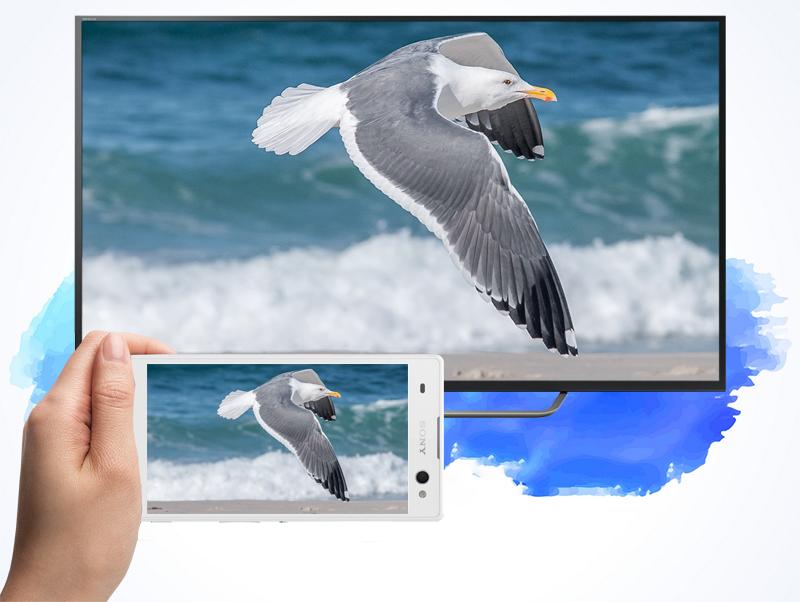 Android Tivi Sony 65 inch KD-65X7500D - Chiếu màn hình điện thoại lên TV