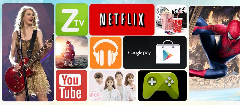 Android Tivi Sony 65 inch KD-65X7500D - Các ứng dụng giải trí