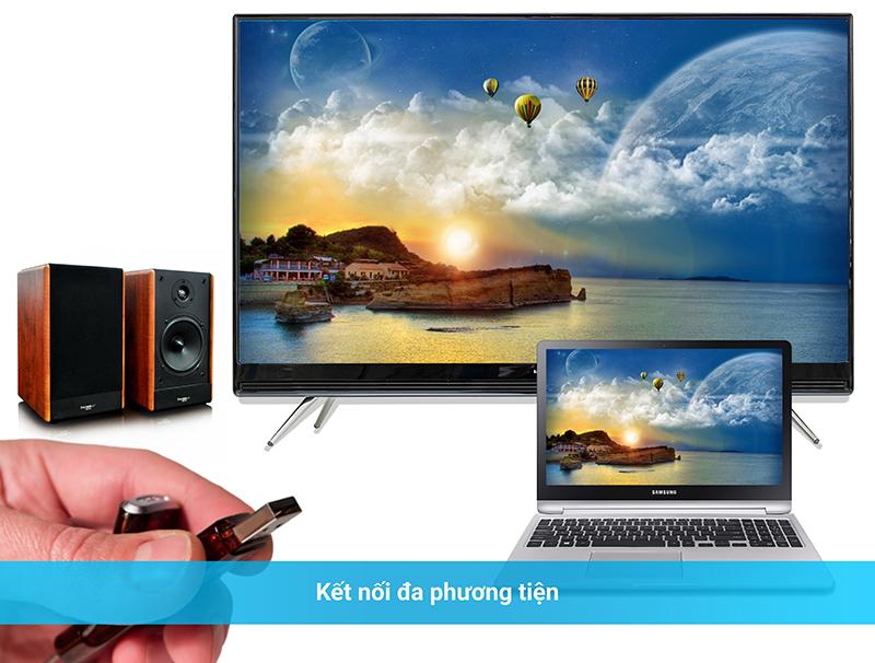 Kết nối tivi với USB, máy tính, loa, dàn máy, đầu đĩa...