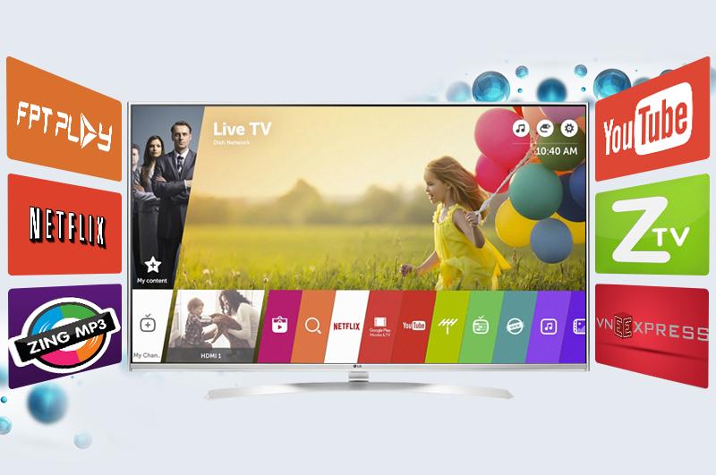Smart Tivi LG 75 inch 75UH656T - Giao diện WebOS thân thiện