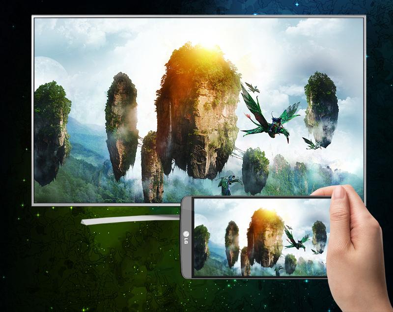 Smart Tivi LG 75 inch 75UH656T - Phản chiếu hình ảnh lên tivi