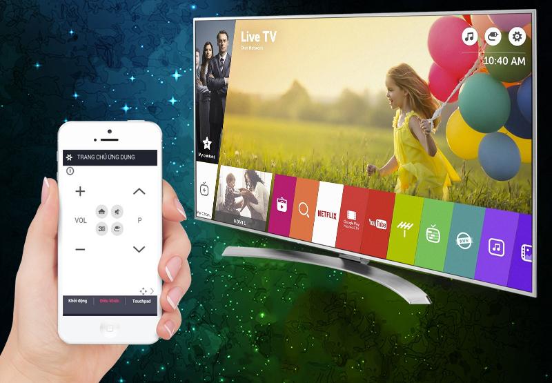 Smart Tivi LG 75 inch 75UH656T - Điều khiển tivi bằng điện thoại