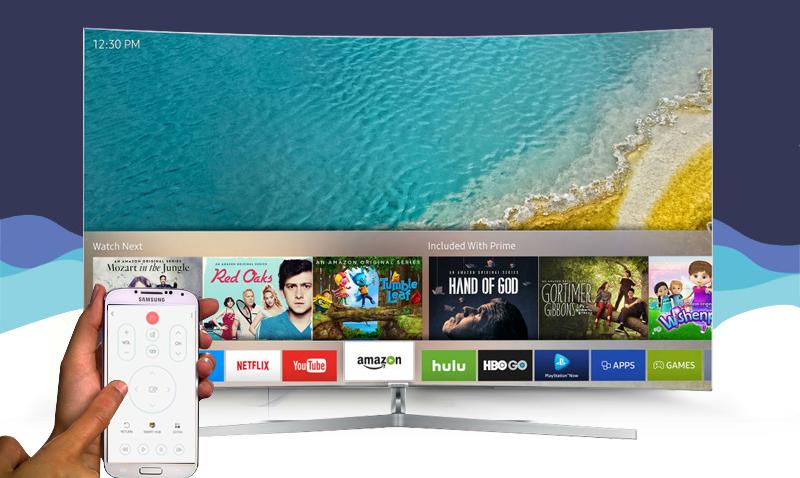 Smart Tivi Samsung 78 inch UA78KS9800 - Điều khiển tivi bằng điện thoại