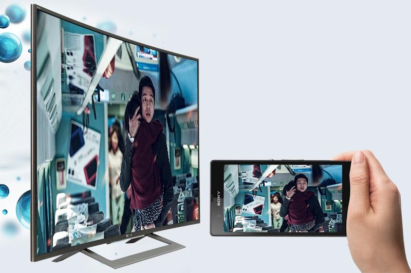 Android Tivi Sony Cong 50 inch KD-50S8000D - Chiếu màn hình điện thoại lên tivi